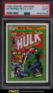 1990 Impel Marvel Universe Incredible Hulk #181 #134 PSA 9 MINT