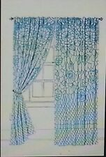NEW ANTHROPOLOGIE GREEN SORAYA CURTAIN WINDOW PANEL 50 X 108""
