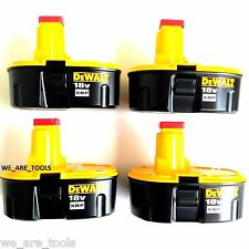 4 NEW GENUINE Dewalt DC9096 Batteries 18 Volt XRP Battery For Drill & Saw 18V