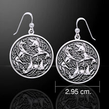 Viking Warrior Horse .925 Sterling Silver Earrings by Peter Stone Jewelry