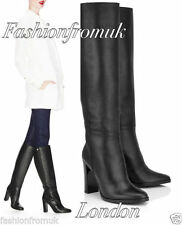 High Heel (3-4.5 in.) Block 100% Leather Boots for Women