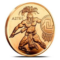 1 oz Copper Round -  Aztec Warrior