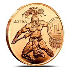 1 oz Copper Round -  Aztec Warrior