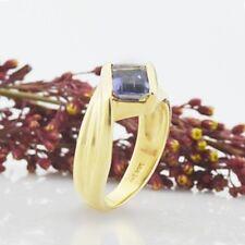 14k Yellow Gold Estate Tanzanite Gemstone Ring Size 6.25
