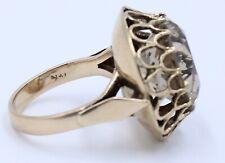14kt. Yellow Gold Ring With Huge Smokey Quartz Stone