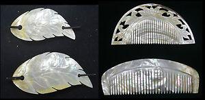 Perlmutt Zierkamm Kamm Haarspange.4 Modelle aus feinstem Burma - Perlmutt