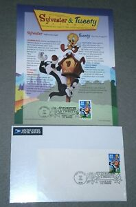UNITED STATES POSTAL SERVICE Sylvester & Tweety FIRST DAY COVER & SOUVENIR SHEET