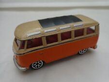 1/57 REALTOY CLASSIC - VW VOLKSWAGEN MICROBUS ORANGE/CREAM DIECAST CAR
