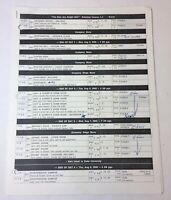 DAWSON'S CREEK set used shooting schedule ~ Season 6, Episode 1