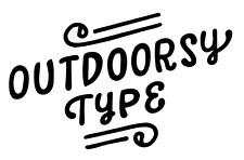 OUTDOORSY TYPE -  6 INCH VINYL DECAL WINDOW LAPTOP CAR BUMPER STICKER