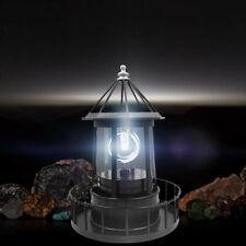 Lighthouse Solar LED Light Garden Outdoor Rotating Beam Sensor Beacon Lamp G