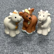 3X Fisher Price Little People Billy Goat Replacement Nativity Farm Animal Figure