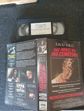 THE HOUSE BY THE CEMETERY UNCUT VHS TAPE BIG BOX