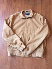 Vintage Ralph Lauren Polo Golf Men's Full Zip Brown Tan Corduroy Jacket Medium