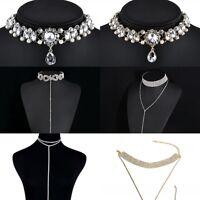 Charm Women's Choker Chunky Statement Bib Collar Chain Pendant Necklace Jewelry