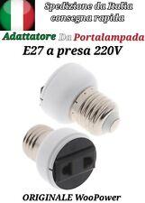 Adattatore da portalampada E27 a presa 220V italiana e tedesca