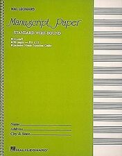 Standard Wirebound Manuscript Paper (Green Cover) by Hal Leonard Publishing Corporation (Spiral bound, 1986)
