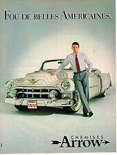 PUBLICITE ADVERTISING 054  1983  ARROW chemises homme fou de belles Américaines