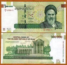 Iran, 100000 (100,000) Rials, ND (2010), P-151, UNC > Khomeini