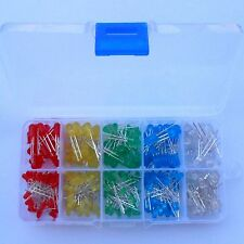 3mm 5mm LED Light White Yellow Red Green Blue Assorted Kit 300pcs new with box