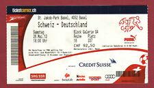 Original Ticket     26.05.2012     SCHWEIZ - DEUTSCHLAND  !!   SELTEN
