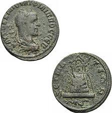 Philipp II Zeugma Kommagene Bronze Tempel Zeus Peribolos Ketos SNG Cop 35 var.