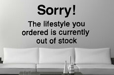 Banksy ' Sorry! The lifestyle you ordered...' Graffiti Large Vinyl Wall Stickers