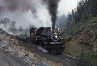 BRITISH COLUMBIA Royal Hudson Railroad Steam Locomotive 3716 1978 Photo Slide 2