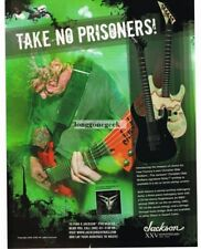 2005 JACKSON Dinky Guitars CHRISTIAN OLDE WOLBERS of Fear Factory Vtg Print Ad