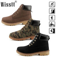 Mens Leather Martin Boots Outdoor Breathable Desert Casual Ankle Hiking Shoes AU