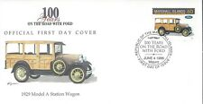 MARSHALL ISLANDS FDC - 1929 MODEL A STATION WAGON - CACHETED - NICE!