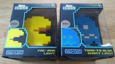 Pac-Man & Tour-à-Bleu Ghost Lampe icônes #001 #003 NAMCO NEW BOXED nom nom!