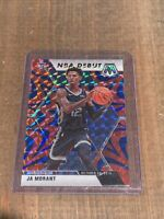 2019-2020 Panini Prizm Mosaic Ja Morant Red Blue NBA Debut RC Rookie Grizzlies