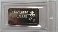 Silberbarren Degussa Feinsilber 999 50g