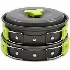 Camping Cookware Mess Kit Backpacking Gear & Hiking Outdoors Bug Out