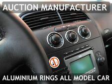 Seat Leon II 1P 05-12 Aluminium Polished Chrome Air Con Control Surrounds Rings