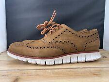 Cole Haan Zerogrand Wingtip Oxford Dogwood Brown New Shoes Men's C29771 SZ 10