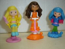 "Strawberry Shortcake Figures Dolls McDonalds 3"" Toy Cake Toppers 3 Piece Lot"