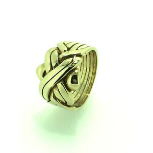 Puzzle Ring By Herron Puzzle Ring 9ct Gold Six Piece Yellow Gold Size (T-Y)