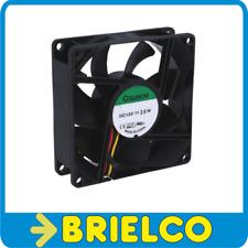 VENTILADOR TERMOPLASTICO 12VDC 2.6W 80X80X25MM 3300 ROTAC/MIN 3 CABLES BD11383