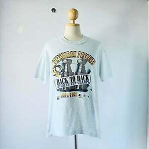 Vintage 1992 Pittsburgh Penguins NHL Hockey T-shirt White Unisex S-3XL TK1085