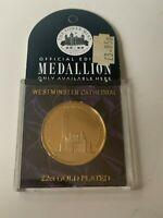 *Nice* Westminster Cathedral London 22 Ct. Gold Plated Coin U.K.