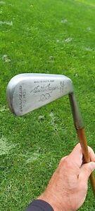 RARE Antique Walter Hagen Cochrane Hickory Wood Shaft Rustless Mid Iro Golf Club