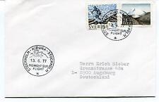 1977 Kiruna Stockholm Midnight Sun Flight Sverige Augsburg Polar Antarctic Cover