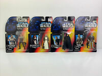 Lot Of 4 - VTG Star Wars The Power of the Force 1995 Kenner Action Figures NIB