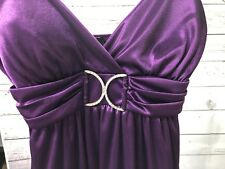 TABOO Spaghetti Strap Womens Medium Dress Purple Sleeveless Lined Short Length
