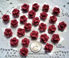 "25- 3/4"" Sugar Royal Icing Edible Mini Rose, Flower, Cake, Baby, Birthday"