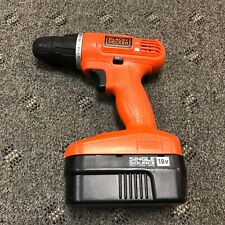 """BLACK+DECKER GC1800  18V NiCd 3/8"""" Drill+free battery**tested** WORKS GREAT!"""