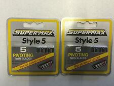 Super-Max estilo 5 Cuchillas Pivotante Doble 5 paquetes de 5