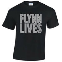 Flynn Lives T Shirt - Mens Kevin Flynns Arcade Gift Present Retro